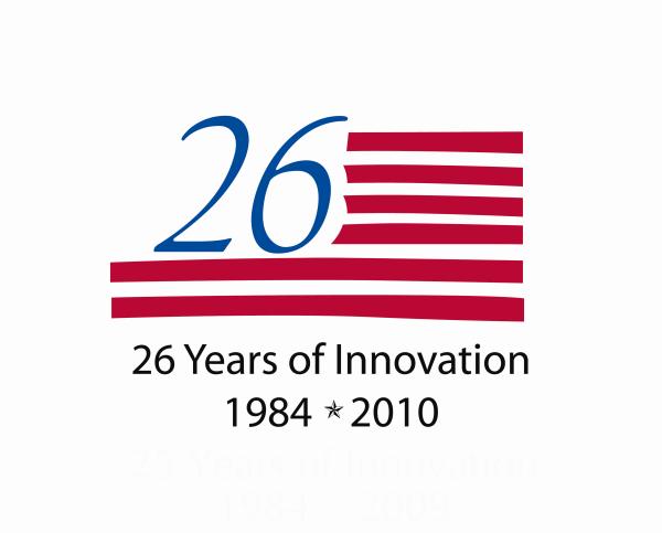 26 year logo