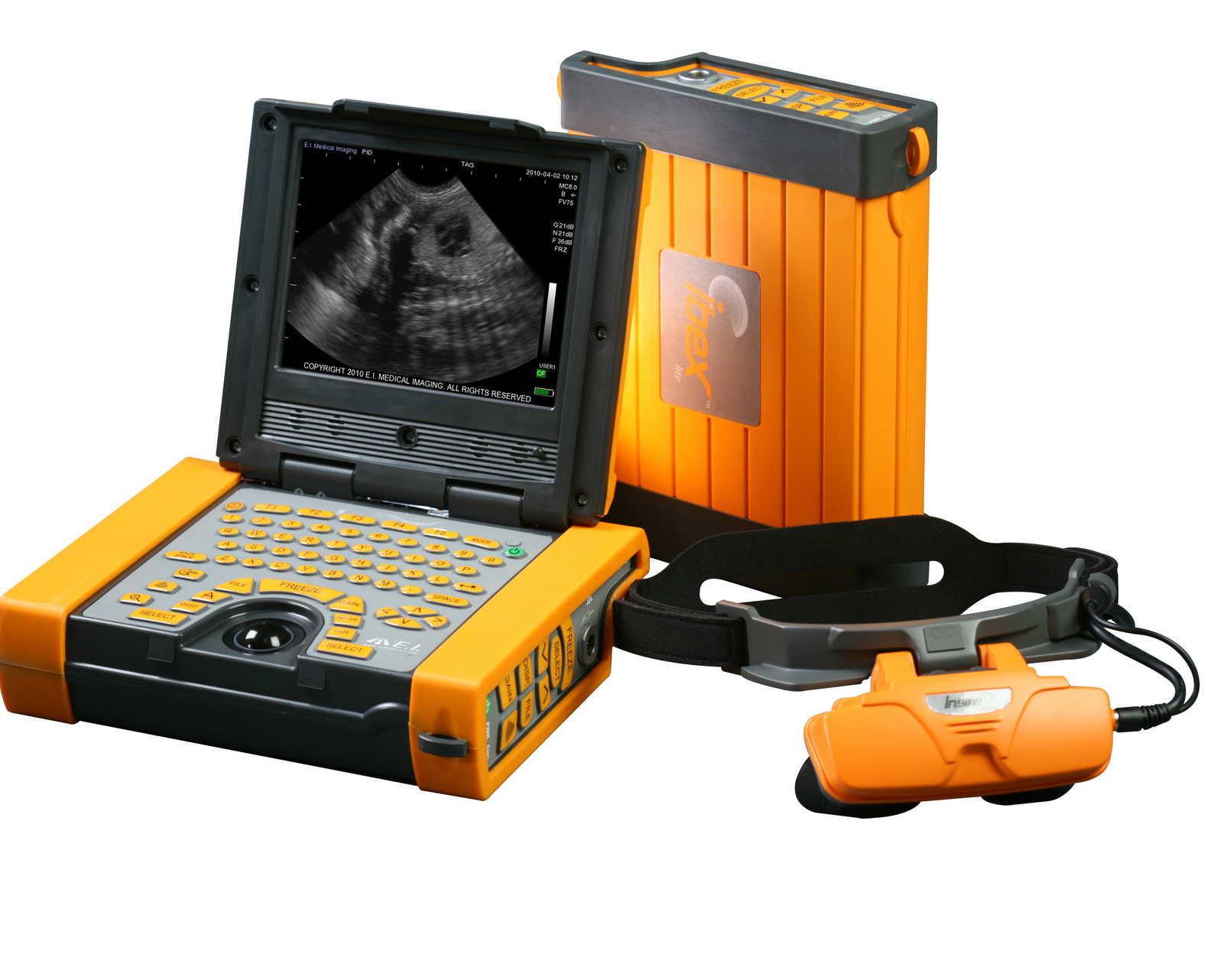 Ibex portable ultrasound, water proof ultrasound, rugged sonogram