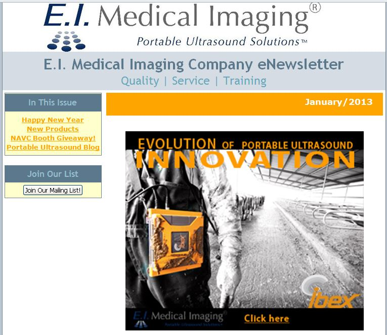 veterinary eNewsletter ultrasound