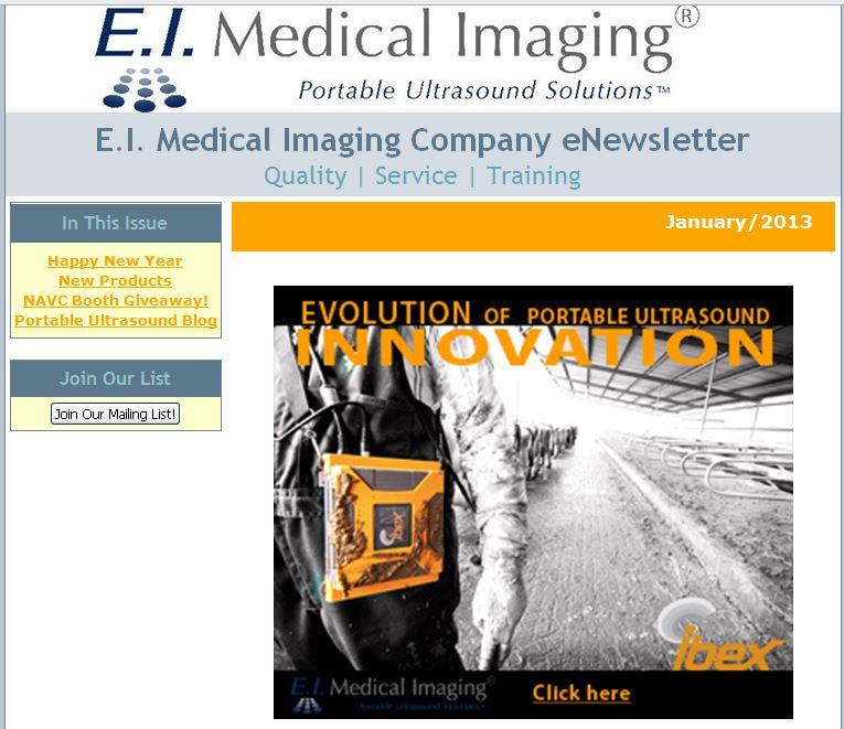 veterinary eNewsletter ultrasound