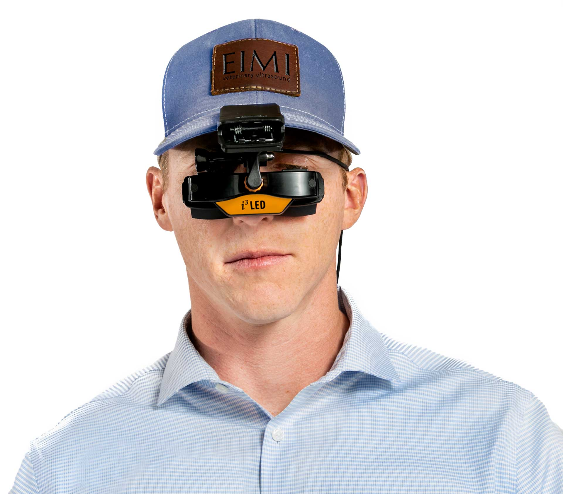 i3 LED goggles on hat